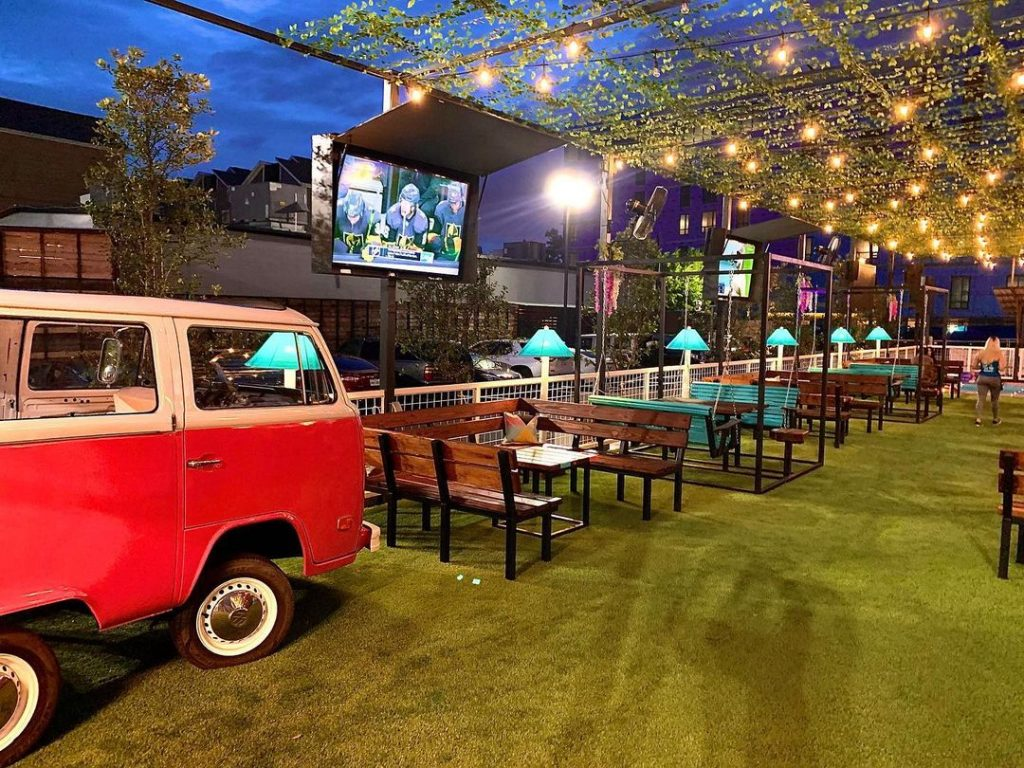 Drink A Mason Jar Of Moonshine At This Vintage New Patio Bar And Grill In Houston