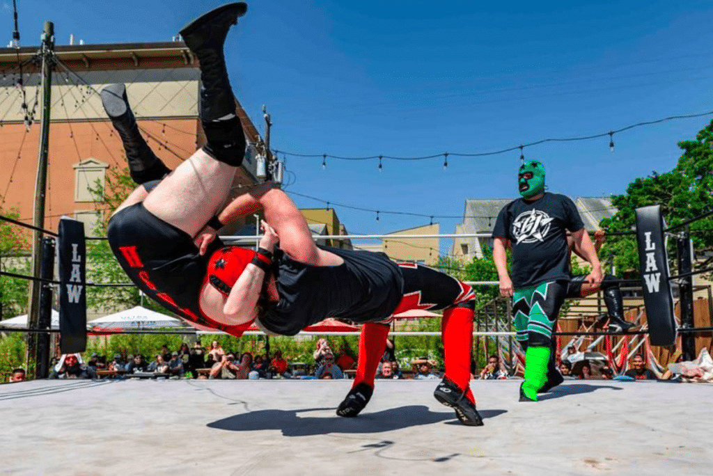 This Vibrant Beer Garden Is Hosting Raucous Backyard Wrestling Matches