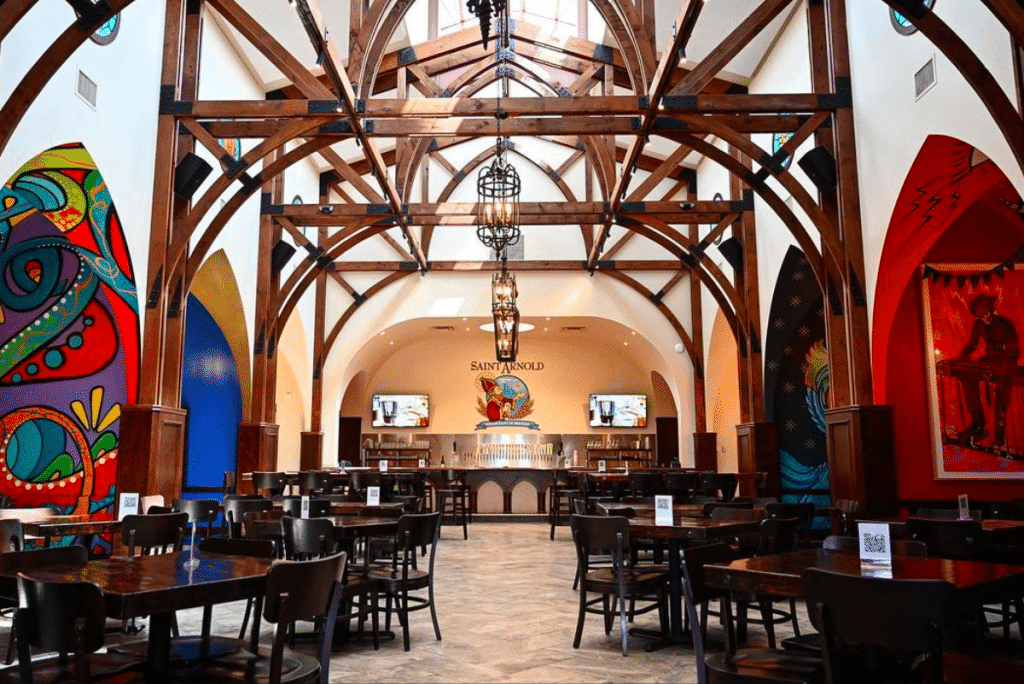 Saint Arnold's Opens Their Stunning Cathedral-Themed Dining Space