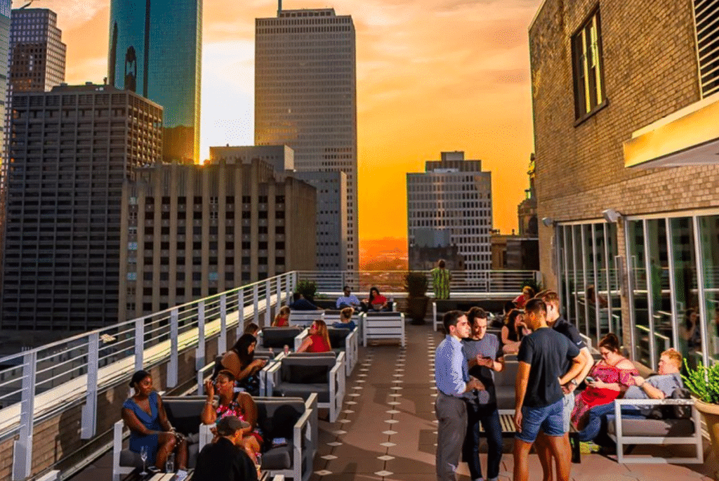 This Houston Rooftop Is Hosting A Spectacular Skyline Cinema Night This Summer