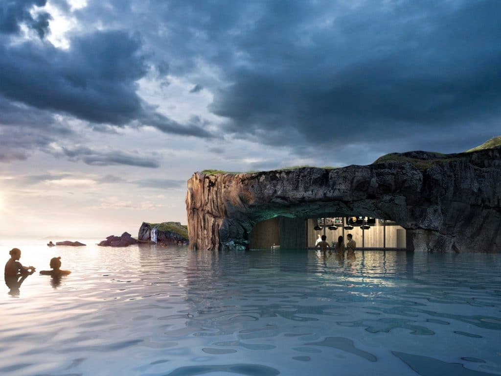 Iceland Has Just Opened A New Oceanfront Geothermal Lagoon With Views Of The Northern Lights