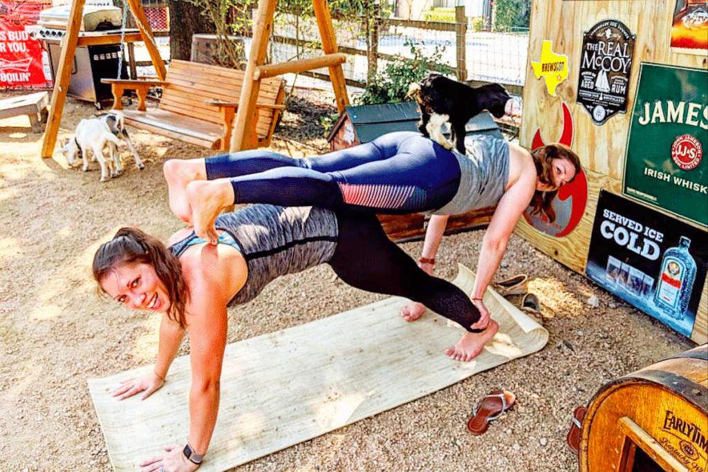 Find Goat Yoga And Yard Games At This Rustic Patio Hangout