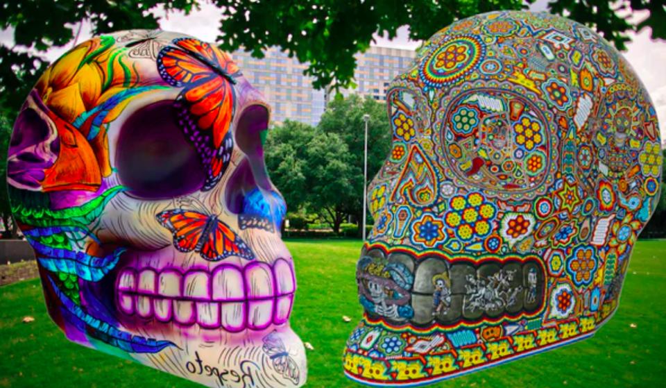 Vibrant Skull Installations Honoring Día De Los Muertos Now On Display In Discovery Green