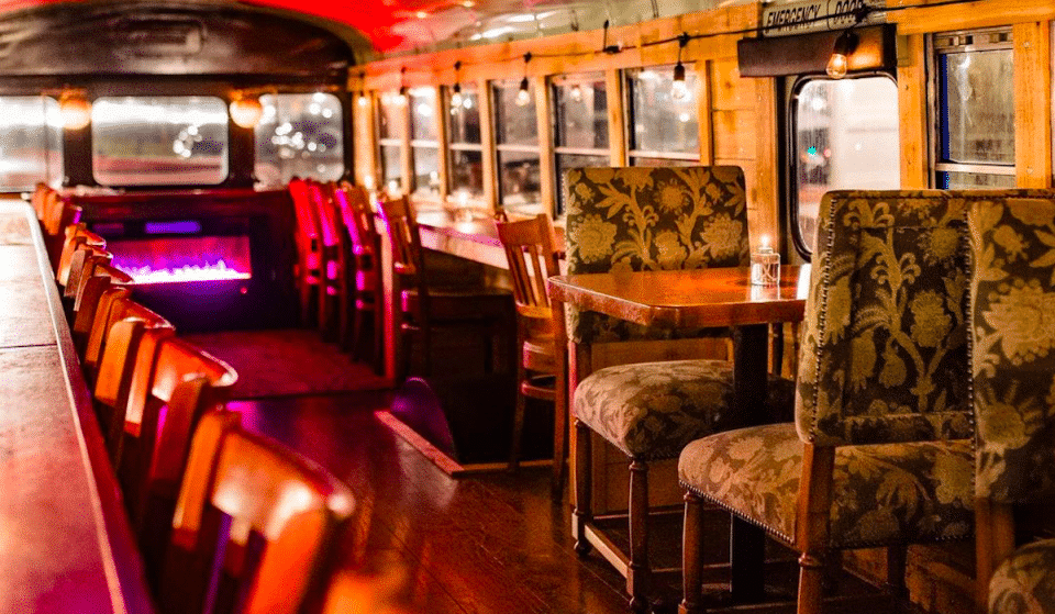 Unwind Inside This Cozy Wine And Beer Bus At This Wine Garden And Lounge In Montrose
