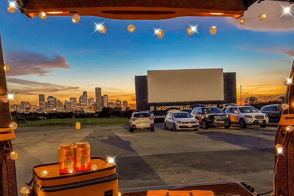 Cinema With A Skyline View: Catch A Film At Moonstruck Drive-In In Houston