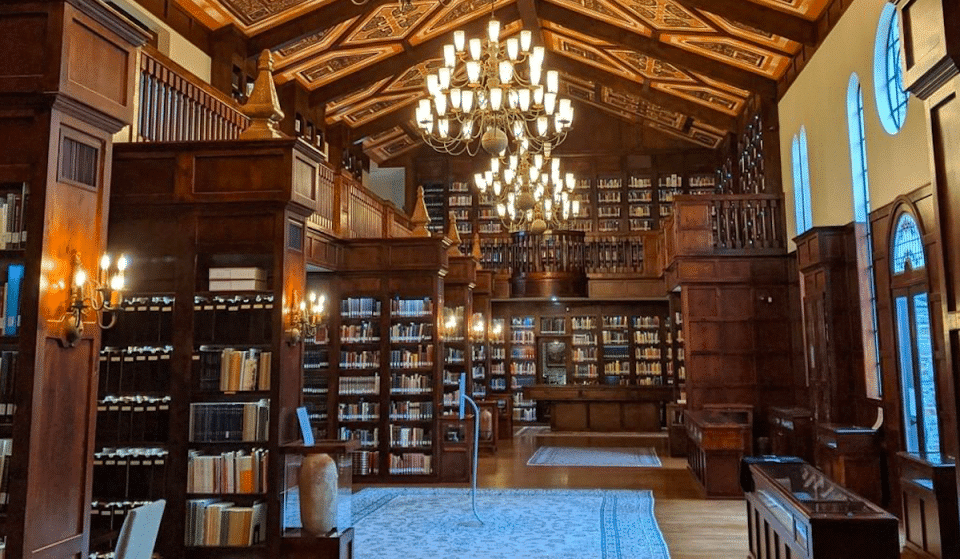 Cozy Up In The Stacks Of This Gorgeous Oxford-Inspired Library In Houston
